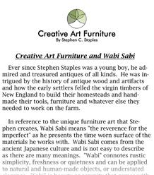 Creative Art Furniture, by Stephen C. Staples - Creative Art Furniture