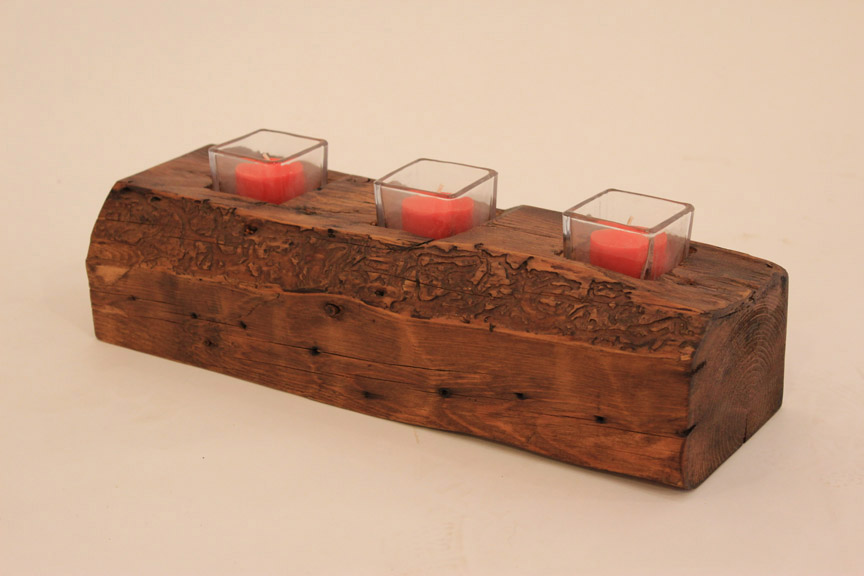 CA-003 Old Pine Beam Candle Art ~ $75