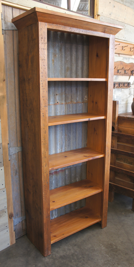 CB-45 BOOKCASE WITH GALVANIZED ROOFING BACK ~ $1595
