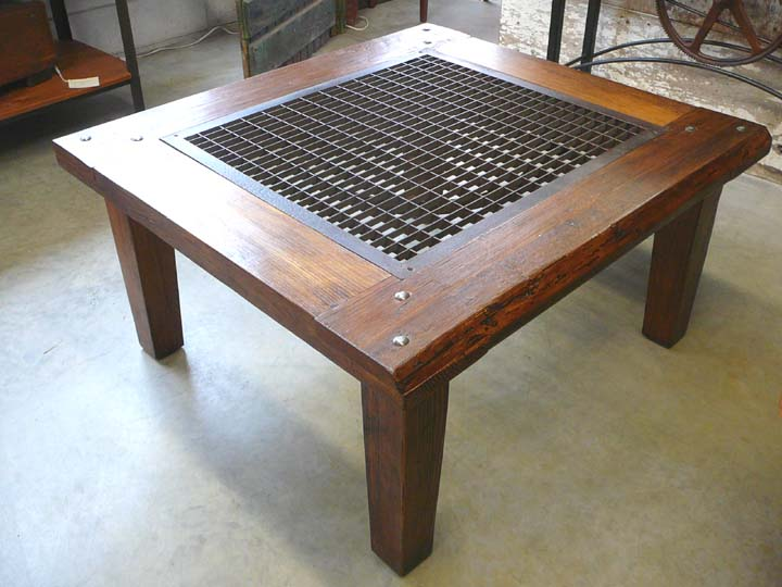 CT 47 Coffee Table With Large Grate   SOLD