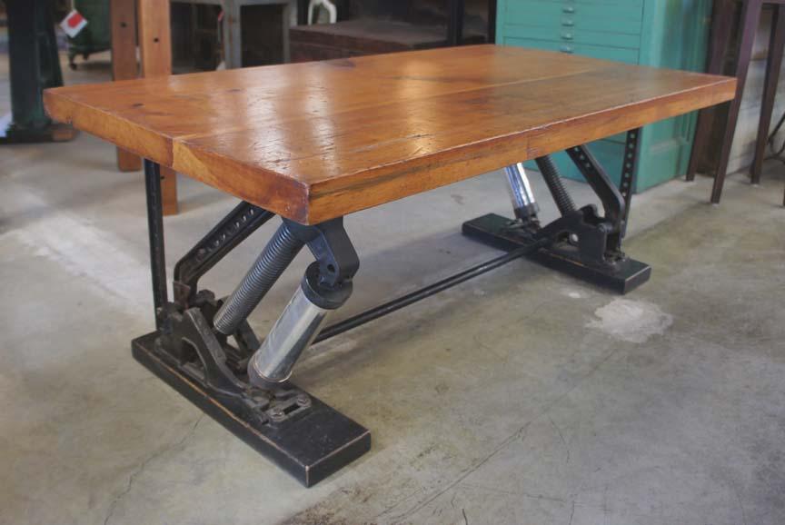 Ct 40 Overhead Factory Door Coffee Table