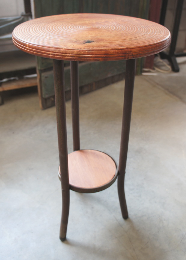 ET-53 TURNED TOP METAL SHOP STOOL BASE END TABLE ~ $395