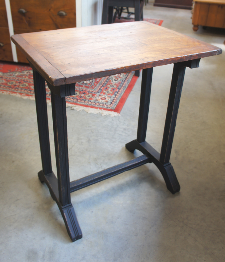 ET-70 ANTIQUE END TABLE WITH BREAD BOARD TOP ~ $495