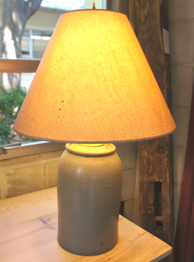 LT-15 ANTIQUE POTTERY JUG LAMP ~ $265