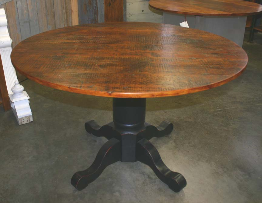 RT-20 Rustic Reclaimed Pine Top Pedestal Table ~ $3095