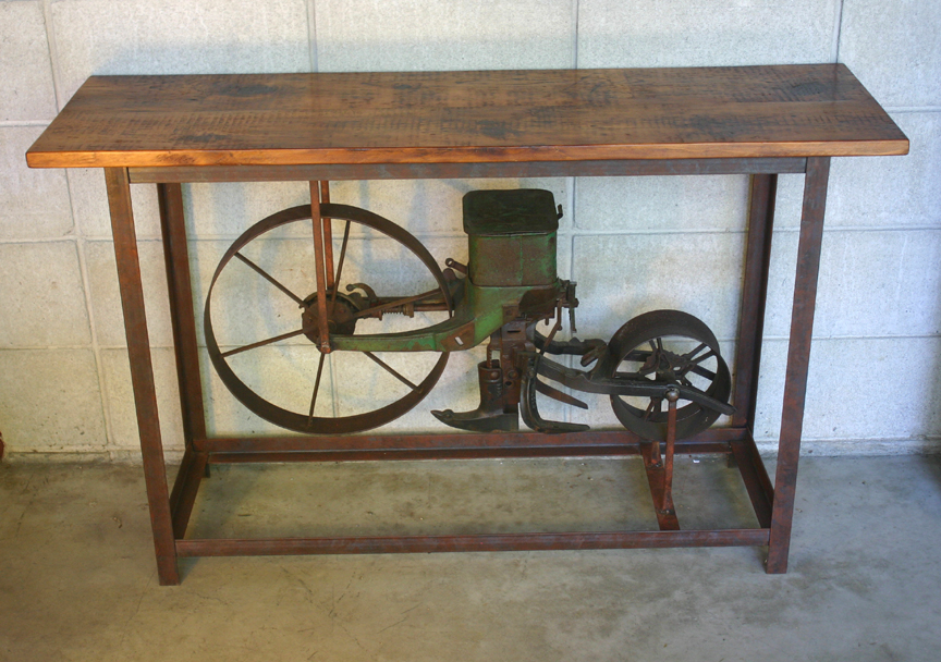 SP-69 Corn Seeder Framed in Angle Iron Table ~ $1595