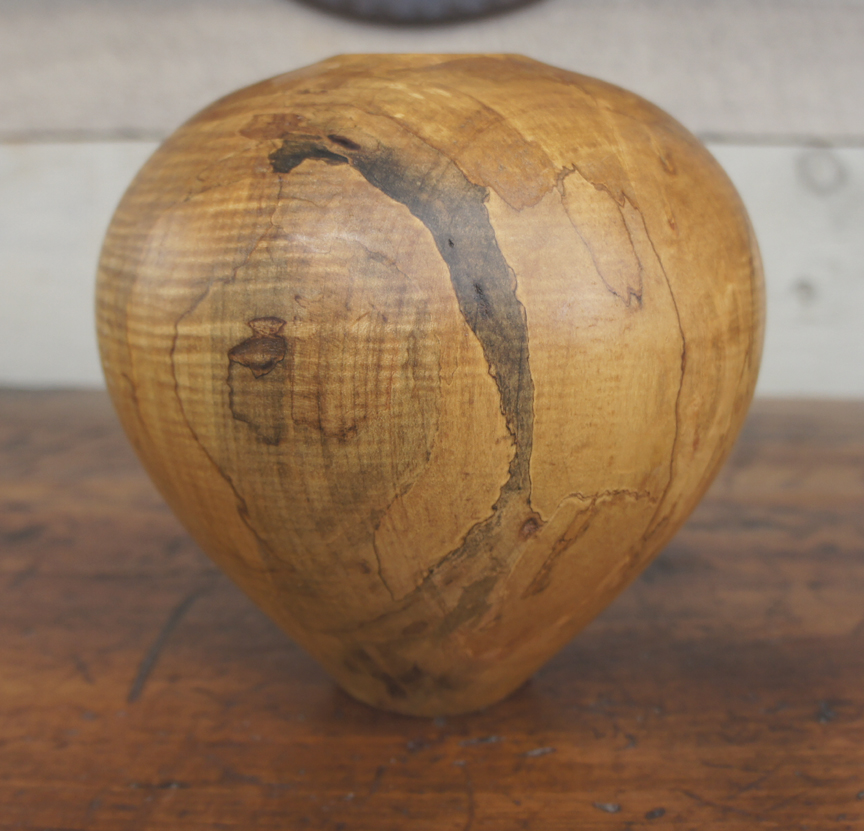 SSB-0338 Spalted Tiger Maple Hollow Form ~ $295