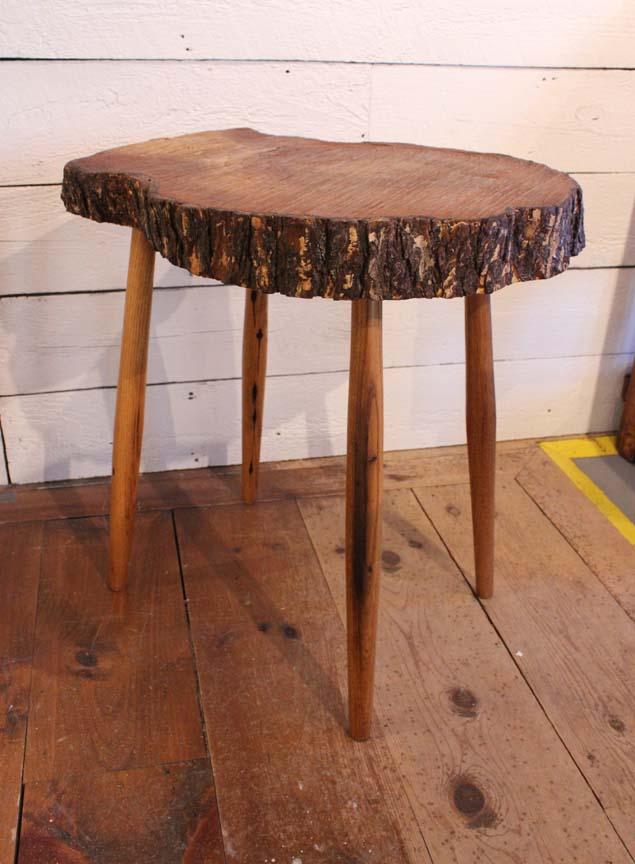 Good #SP 20 Tree Slab End Table